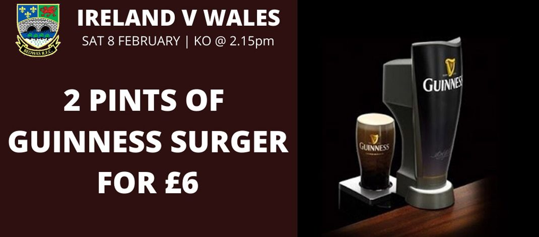 Special Offer on Guinness Surger -Saturday 08 February-WHILE STOCKS LAST