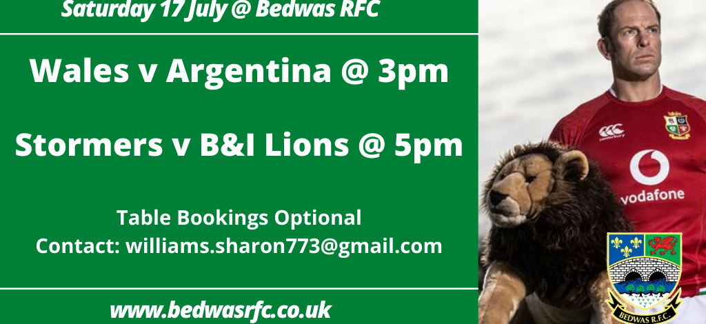 This weekends televised action at Bedwas RFC